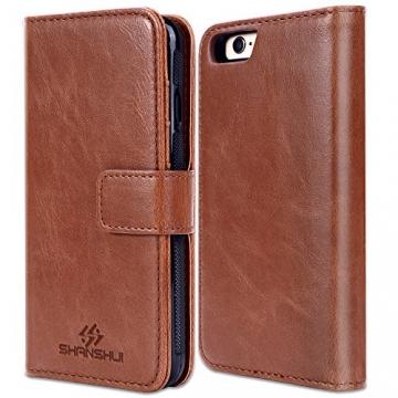 Shanshui 2in1 Ledertasche für iPhones mit RFID-Schutz geschlossen