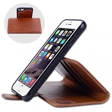 Shanshui 2in1 Ledertasche für iPhones mit RFID-Schutz Halter